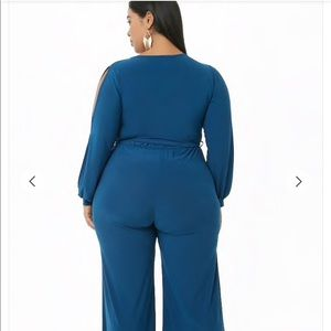 Forever 21 Other - Forever 21 Plus Teal Surplus jumpsuit